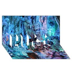 REED FLUTE CAVES 3 HUGS 3D Greeting Card (8x4)