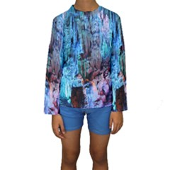 REED FLUTE CAVES 3 Kid s Long Sleeve Swimwear