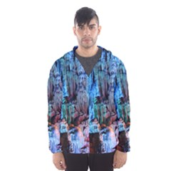 REED FLUTE CAVES 3 Hooded Wind Breaker (Men)