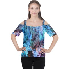 REED FLUTE CAVES 3 Women s Cutout Shoulder Tee