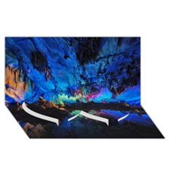 REED FLUTE CAVES 2 Twin Heart Bottom 3D Greeting Card (8x4)