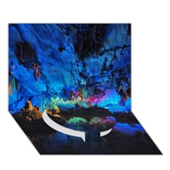 REED FLUTE CAVES 2 Circle Bottom 3D Greeting Card (7x5)