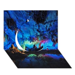 REED FLUTE CAVES 2 Circle 3D Greeting Card (7x5)
