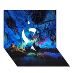 REED FLUTE CAVES 2 Ribbon 3D Greeting Card (7x5)