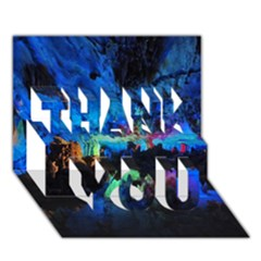 REED FLUTE CAVES 2 THANK YOU 3D Greeting Card (7x5)