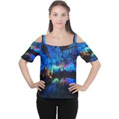 REED FLUTE CAVES 2 Women s Cutout Shoulder Tee