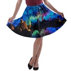 REED FLUTE CAVES 2 A-line Skater Skirt