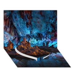 REED FLUTE CAVES 1 Heart Bottom 3D Greeting Card (7x5)