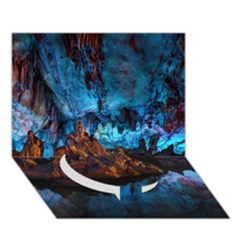 Reed Flute Caves 1 Circle Bottom 3d Greeting Card (7x5)