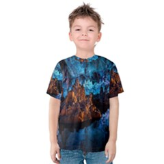 REED FLUTE CAVES 1 Kid s Cotton Tee