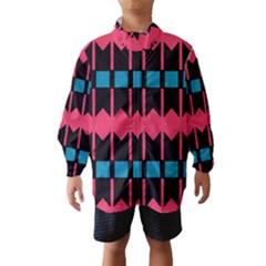 Rhombus and stripes pattern Wind Breaker (Kids)