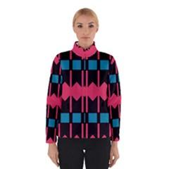 Rhombus And Stripes Pattern Winter Jacket