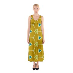 Connected triangles Full Print Maxi Dress
