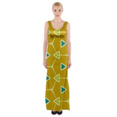 Connected triangles Maxi Thigh Split Dress