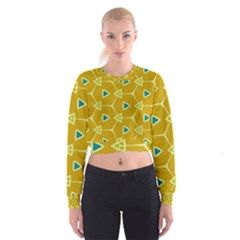 Connected triangles   Women s Cropped Sweatshirt