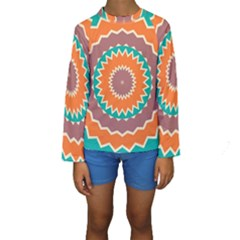 Hypnotic star  Kid s Long Sleeve Swimwear