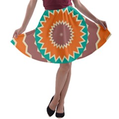 Hypnotic star A-line Skater Skirt