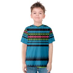 Chevrons and triangles Kid s Cotton Tee