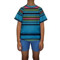 Chevrons and triangles  Kid s Short Sleeve Swimwear