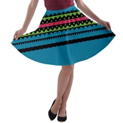 Chevrons and triangles A-line Skater Skirt