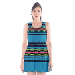Chevrons and triangles Scoop Neck Skater Dress