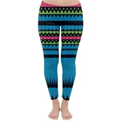 Chevrons And Triangles Winter Leggings