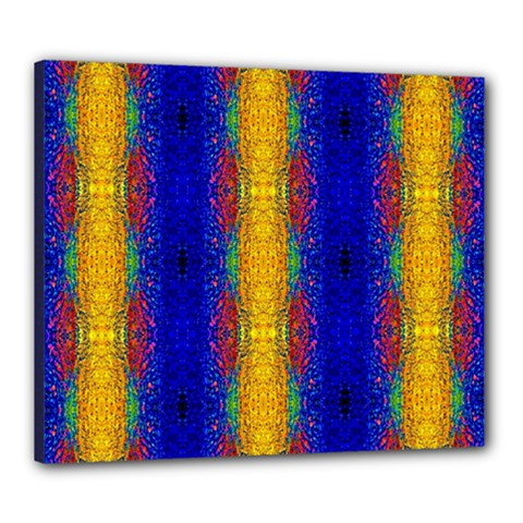 Cool  Abstract Neon Pattern Canvas 24  x 20