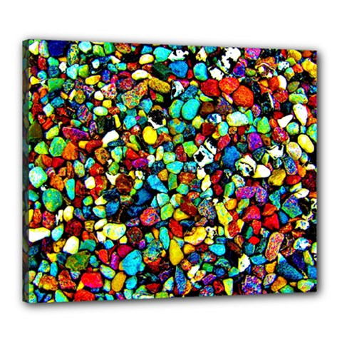 Colorful Stones, Nature Canvas 24  x 20