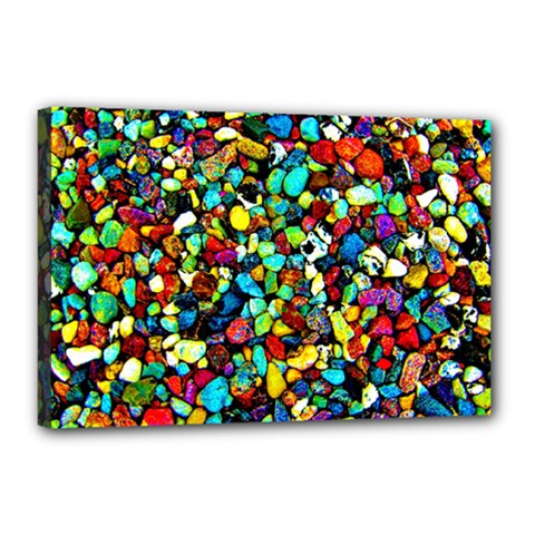Colorful Stones, Nature Canvas 18  X 12