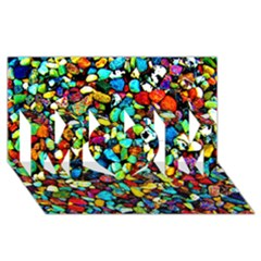 Colorful Stones, Nature MOM 3D Greeting Card (8x4)