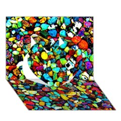 Colorful Stones, Nature Heart 3d Greeting Card (7x5)