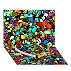 Colorful Stones, Nature Heart Bottom 3d Greeting Card (7x5)