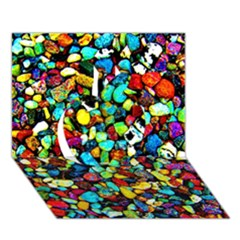 Colorful Stones, Nature Apple 3D Greeting Card (7x5)