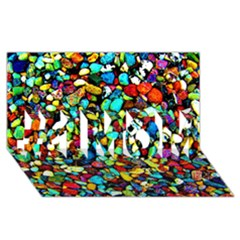 Colorful Stones, Nature #1 MOM 3D Greeting Cards (8x4)