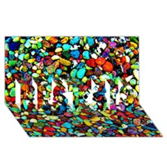 Colorful Stones, Nature Best Sis 3d Greeting Card (8x4)