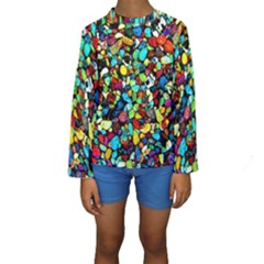 Colorful Stones, Nature Kid s Long Sleeve Swimwear