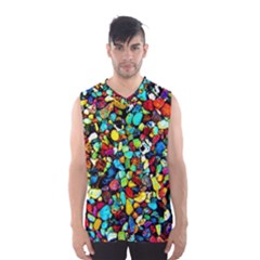Colorful Stones, Nature Men s Basketball Tank Top