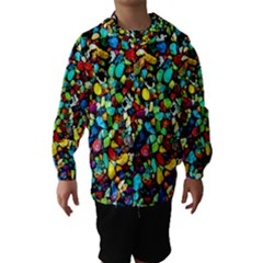 Colorful Stones, Nature Hooded Wind Breaker (kids)