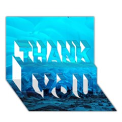 MENDENHALL ICE CAVES 3 THANK YOU 3D Greeting Card (7x5)