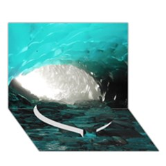 Mendenhall Ice Caves 2 Heart Bottom 3d Greeting Card (7x5)