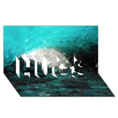 MENDENHALL ICE CAVES 2 HUGS 3D Greeting Card (8x4)