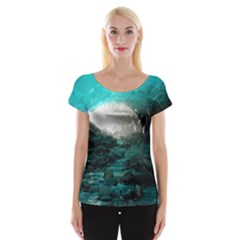 Mendenhall Ice Caves 2 Women s Cap Sleeve Top