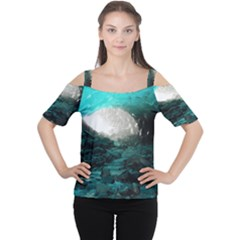 Mendenhall Ice Caves 2 Women s Cutout Shoulder Tee