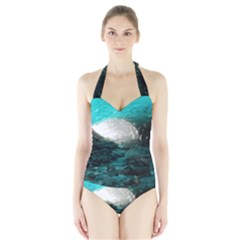 Mendenhall Ice Caves 2 Women s Halter One Piece Swimsuit