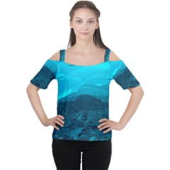 MENDENHALL ICE CAVES 1 Women s Cutout Shoulder Tee