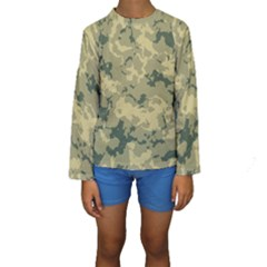 GreenCamouflage Kid s Long Sleeve Swimwear