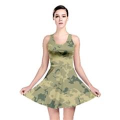 Greencamouflage Reversible Skater Dresses