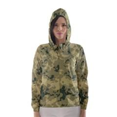 GreenCamouflage Hooded Wind Breaker (Women)