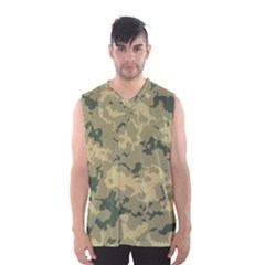GreenCamouflage Men s Basketball Tank Top