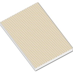Gold And White Chevron Wavy Zigzag Stripes Large Memo Pads